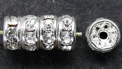 Best.Nr.:32039  Strassrondell  silberfarben  Strasssteinchen kristall
