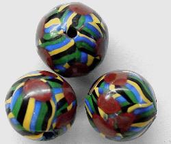 Best.Nr.:45-5392 Millefiori-perlen um 1920 in Böhmen von Hand gefertigt Handelsperle /Trade Beads für den Afrikahandel hergestellt