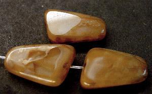 Best.Nr.:67715 Glasperle / Table Cut Bead geschliffen mit picasso finish