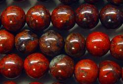 Best.Nr.:65-5498/6  Halbedelsteinperlen  aus Poppy Jasper (Jaspis)