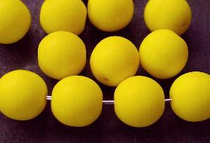 Best.Nr.:22137 Glasperlen gelb mattiert (frostet)