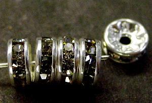Best.Nr.:32031 Strassrondell silberfarben Strasssteinchen blackdiamond