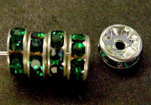 Best.Nr.:32024 Strassrondell silberfarben Strasssteinchen Emerald