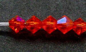 Best.Nr.:31034 mc-Schliff Glasperlen orange mit AB bicon