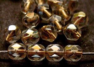Best.Nr.:29027 facettierte Glasperlen kristall mit Metalliceinzug und AB