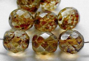 Best.Nr.:27522 facettierte Glasperlen kristall mit picasso finish