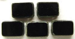 Best.Nr.:67008 Glasperlen / Table Cut Beads  geschliffen schwarz