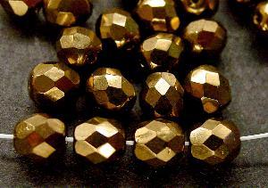 Best.Nr.:28358 facettierte Glasperlen  bronzefarben
