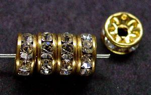 Best.Nr.:32044 Strassrondell goldfarben Strasssteinchen kristall