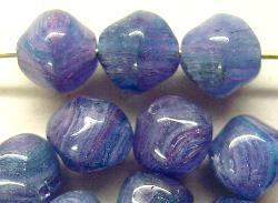 Best.Nr.:57480 Glasperlen  Nuggets violettblau meliert