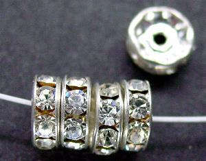 Best.Nr.:32043 Strassrondell silberfarben Strasssteinchen kristall