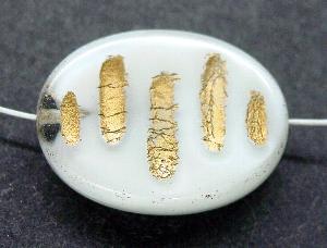 Best.Nr.:59037 Vintagestyle Glasperlen altweiß mit Goldauflage nach alten Vorlagen aus den 1930/40 Jahren neu gefertigt