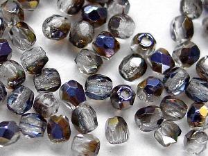 Best.Nr.:28237 facettierte Glasperlen kristall mit metallic Veredelung