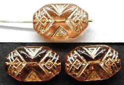Best.Nr.:57140 Antik style Glasperlen,  nach alten Vorlagen aus den 1920 Jahren  neu gefertigt  mit Goldauflage