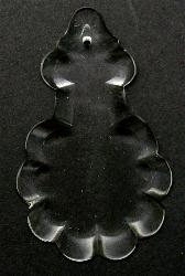 Best.Nr.:60-5942  geschliffener kristall Lüsterbehang  um 1960 in Gablonz/Böhmen hergestellt
