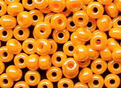 Best.Nr.:03007 Rocailles von Ornella Preciosa Tschechien, orange /schimmernd (lüster)
