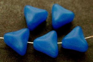 Best.Nr.:49280 Glasperlen Dreiecke blau mattiert (frostet)