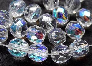 Best.Nr.:41057 facettierte Glasperlen kristall mit AB