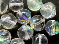 Best.Nr.:57064  Glasperlen  Nuggets kristall mit AB