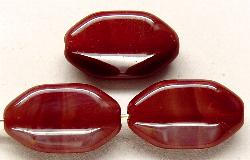 Best.Nr.:46086  Glasperlen  Olive flach, kantig  rotbraun