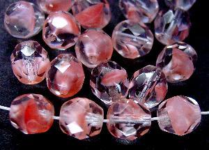 Best.Nr.:27056 facettierte Glasperlen rosa kristall