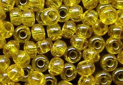 Best.Nr.:09022 Rocailles von Ornella Preciosa Tschechien, gelb /schimmernd (lüster)