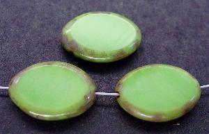 Best.Nr.:67613 Glasperlen / Table Cut Beads geschliffen mit Travertin-Veredelung