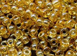 Best.Nr.:09032 Rocailles von Ornella Preciosa Tschechien,  gelb /schimmernd (lüster)