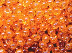 Best.Nr.:09027 Rocailles   orange /schimmernd (lüster)