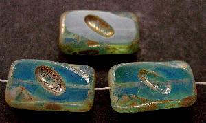 Best.Nr.:671009 Glasperlen / Table Cut Beads Opalglas geschliffen mit picasso finish