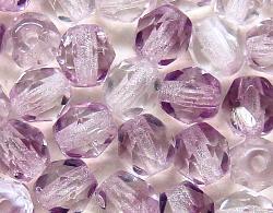 Best.Nr.:27369 facettierte Glasperlen  Zweifarbenglas kristall violett transp.,  hergestellt in Gablonz / Tschechien