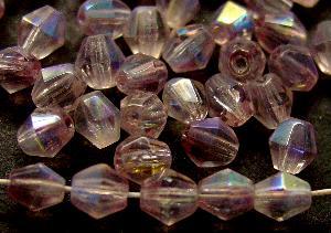 Best.Nr.:28366 facettierte Glasperlen bicon violettristall mit AB