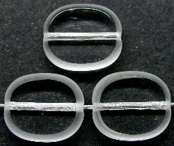 Best.Nr.:46111 Glasperlen / Table Cut Beads Olive geschliffen kristall, Rand mattiert