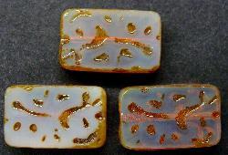 Best.Nr.:67072  Glasperlen / Table Cut Beads  geschliffen mit Travertin-Veredelung, hergestellt in Gablonz / Tschechien