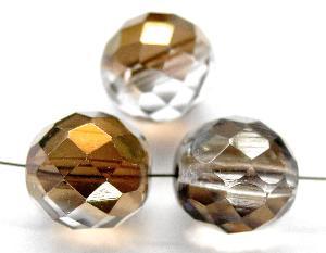 Best.Nr.:28371 facettierte Glasperlen mit metallic Bedampampfung