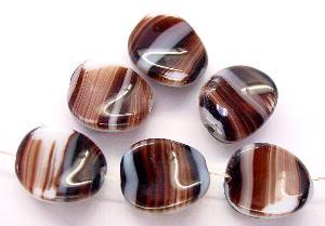 Best.Nr.:57218 Glasperlen getwistet braun weiß