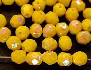 Best.Nr.:28054 facettierte Glasperlen gelb mit AB