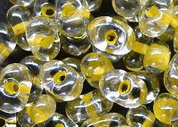 Best.Nr.:12115 Farfalle Rocailles von Preciosa Tschechien,  kristall mit Farbeinzug /schimmernd (lüster)