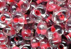 Best.Nr.:12101  Farfalle Rocailles von Preciosa Tschechien,  kristall mit Farbeinzug /schimmernd (lüster)