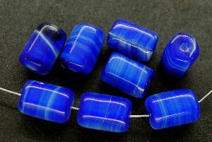Best.Nr.:63270 Glasperlen in den 1920/30 Jahren in Gablonz/Böhmen hergestellt blau weiß
