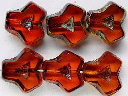 Best.Nr.:671093 Glasperlen / Table Cut Beads  geschliffen dunkel orange