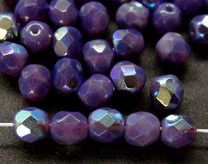 Best.Nr.:26465 facettierte Glasperlen violett opal mit AB