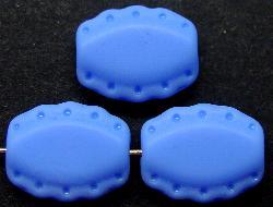 Best.Nr.:59025  Vintage style Glasperlen,  nach alten Vorlagen aus den 1930/40Jahren   neu gefertigt  mittelblau mattiert (frostet)