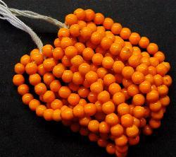 Best.Nr.:63127 Glasperlen in den 1920/30 Jahren in Gablonz/Böhmen hergestellt  orange