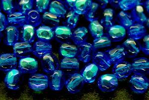 Best.Nr.:28027 facettierte Glasperlen blau mit AB