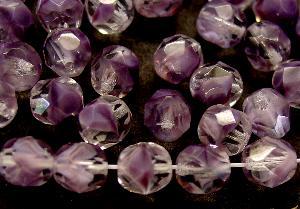 Best.Nr.:26166 facettierte Glasperlen kristall violett, hergestellt in Gablonz / Tschechien