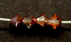 Best.Nr.:31039 mc-Schliff Glasperlen kristall mit Cupfer Veredelung bicon