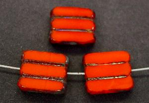Best.Nr.:67907 Glasperlen / Table Cut Beads orange, geschliffen mit picasso finish