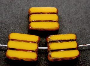 Best.Nr.:67728 Glasperlen / Table Cut Beads gelb, geschliffen mit picasso finish