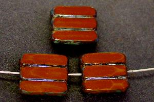 Best.Nr.:671059 Glasperlen / Table Cut Beads braun, geschliffen mit picasso finish